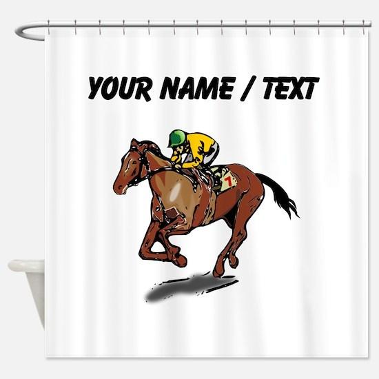 Custom Race Horse Shower Curtain