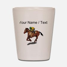 Custom Race Horse Shot Glass