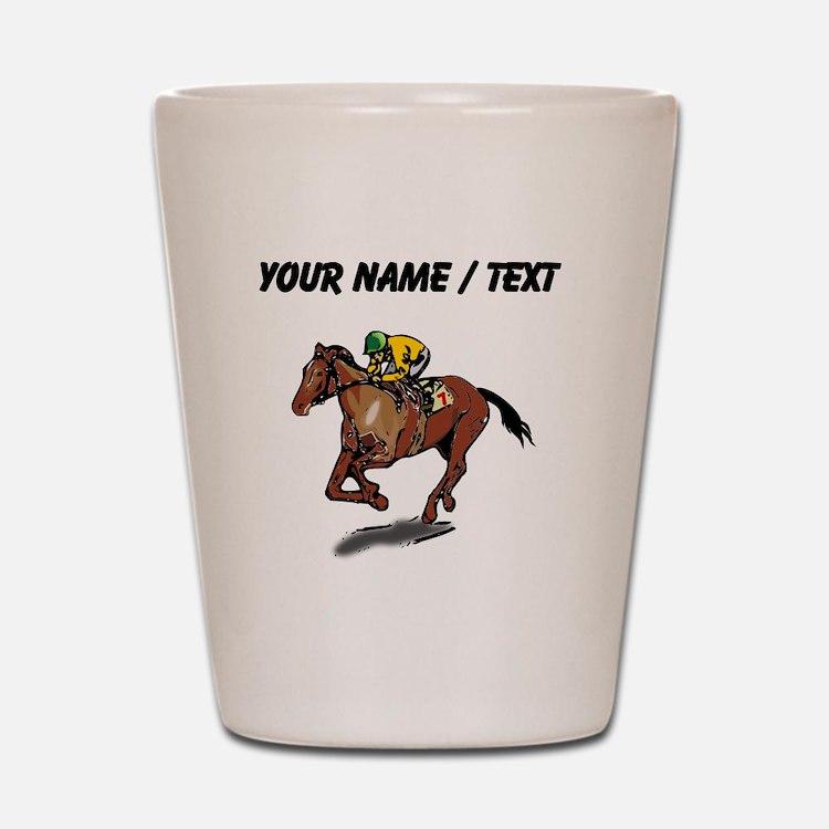 Custom Race Horse Shot Glass