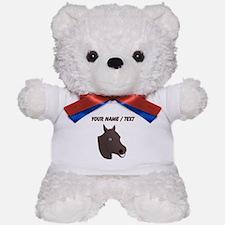 Custom Brown Horse Face Teddy Bear