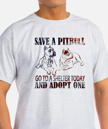 SAVE A PIT BULL GO TO A SHELTER AF2a T-Shirt