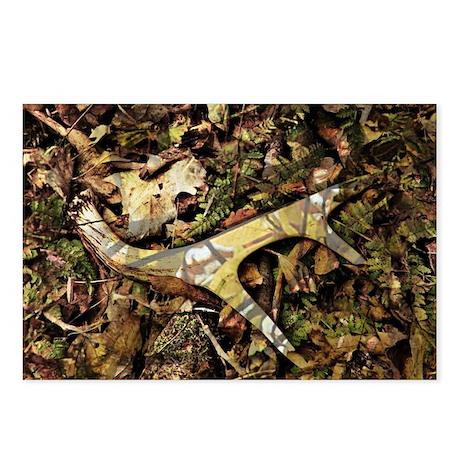 camouflage deer antler Postcards (Package of 8)