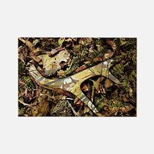 camouflage deer antler Rectangle Magnet