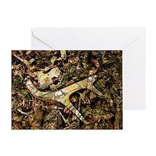 camouflage deer antler Greeting Card