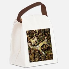 camouflage deer antler Canvas Lunch Bag