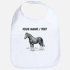 Custom Clydesdale Horse Sketch Bib