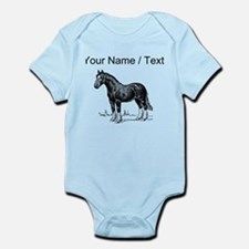 Custom Clydesdale Horse Sketch Body Suit