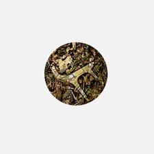 camouflage deer antler Mini Button