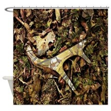 camouflage deer antler Shower Curtain