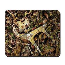 camouflage deer antler Mousepad