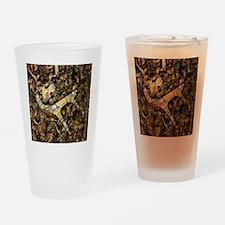 camouflage deer antler Drinking Glass