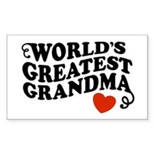 World's Greatest Grandma Rectangle Decal