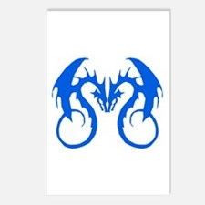 Blue Love Dragons Postcards (Package of 8)