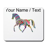 Colorful horse Mouse Pads