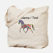 Custom Rainbow Horse Tote Bag