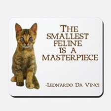 The smallest feline is a masterpiece Mousepad
