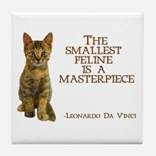 The smallest feline is a masterpiece Tile Coaster
