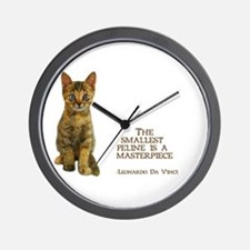 The smallest feline is a masterpiece Wall Clock