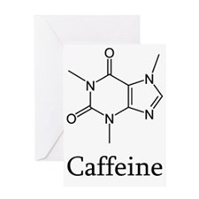 Caffeine Skeletal Structure Greeting Card