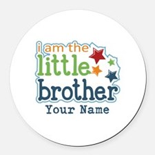 Little Brother - Personalized Round Car Magnet