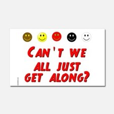 Cant We All Just Get Along Car Magnet 20 x 12