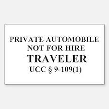 TRAVELER - Black Decal