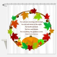 Thanksgiving Wreath Shower Curtain