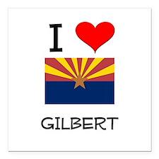 "I Love Gilbert Arizona Square Car Magnet 3"" x 3"""