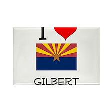I Love Gilbert Arizona Magnets