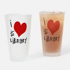 Library Love Drinking Glass