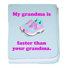 My Grandma Is Faster baby blanket