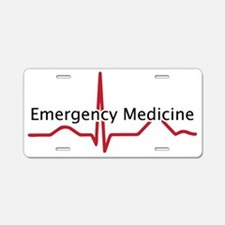 Emergency Medicine Aluminum License Plate