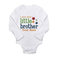 I am the Little Brother Long Sleeve Infant Bodysui