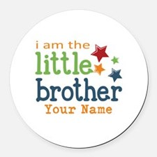 I am the Little Brother Round Car Magnet