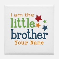 I am the Little Brother Tile Coaster