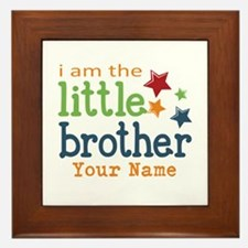 I am the Little Brother Framed Tile