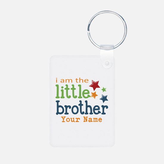 I am the Little Brother Aluminum Photo Keychain