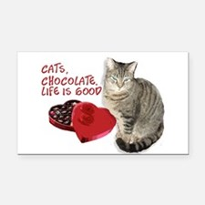 Cats and chocolate Rectangle Car Magnet