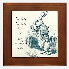 Late Rabbit Framed Tile