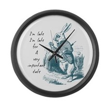 Late Rabbit Large Wall Clock