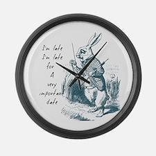 Late Rabbit Large Wall Clock