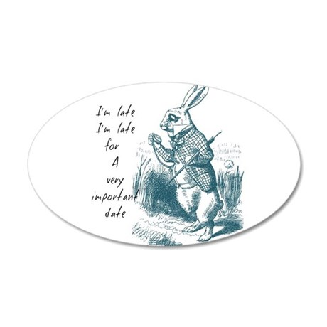 Late Rabbit Wall Decal