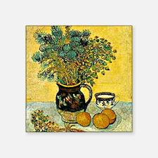 "Van Gogh - Still Life Majol Square Sticker 3"" x 3"""