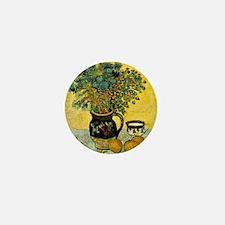 Van Gogh - Still Life Majolica Jug wit Mini Button