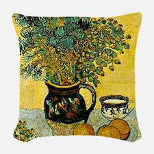 Van Gogh - Still Life Majolica Woven Throw Pillow