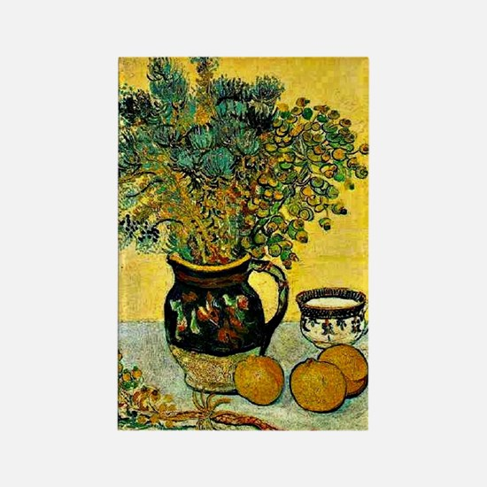 Van Gogh - Still Life Majolica Ju Rectangle Magnet