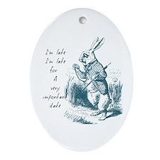 Late Rabbit Ornament (Oval)