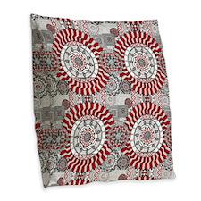 Concentric Collage Burlap Throw Pillow