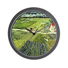 Van Gogh - Landscape with Carriage and  Wall Clock