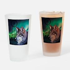 native dream catcher wolf northern  Drinking Glass